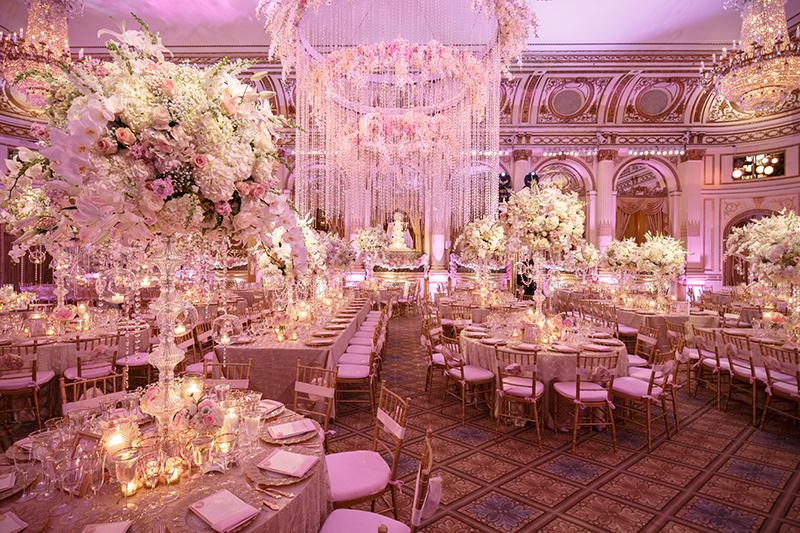 Pink Princess Plaza Wedding David Tutera